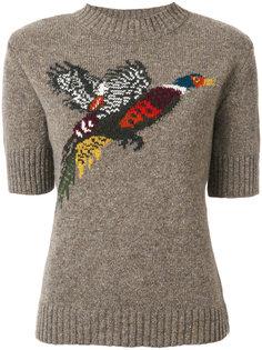 трикотажный топ с изображением птицы Mulberry