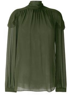 блузка с вышивкой и оборкой  Dorothee Schumacher