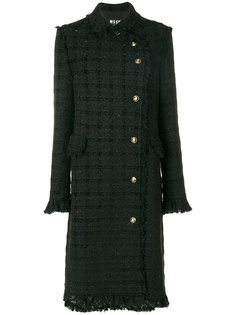 классическое приталенное пальто  MSGM