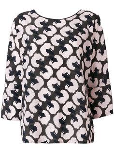 блузка с принтом  Odeeh