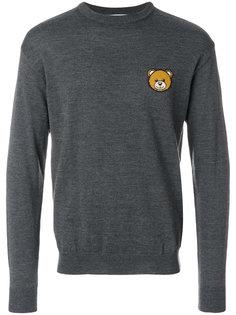 свитер с нашивкой-медведем Moschino