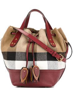 клетчатая сумка на шнурке Heston Burberry