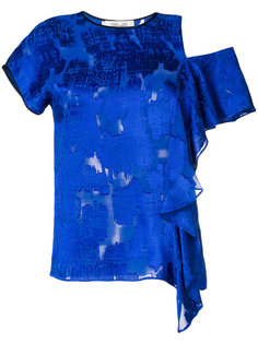 блузка с оборкой и вырезом  Diane Von Furstenberg