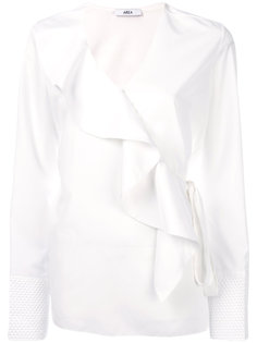 ruffle-front blouse Area