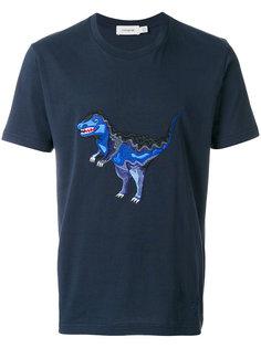 футболка с вышитым динозавром  Coach