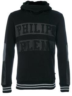 mesh lettered hoodie Philipp Plein