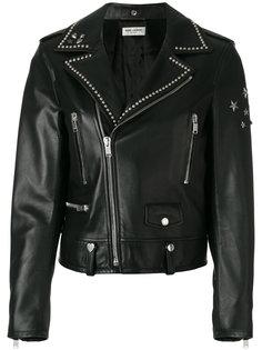 куртка с заклепками на воротнике  Saint Laurent