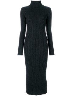 платье в рубчик с высоким воротом  Iro
