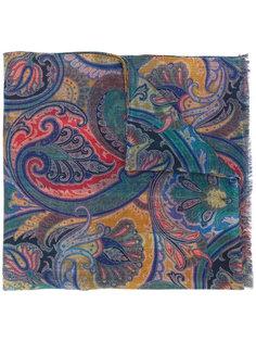 клетчатый шарф с узором пейсли Etro