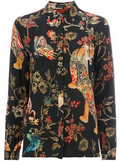 полосатая блузка с цветочным принтом Etro