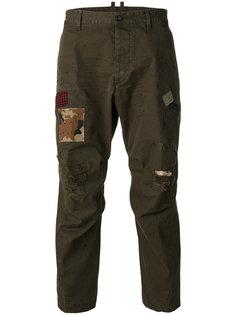 брюки Hiking с потертой отделкой Dsquared2