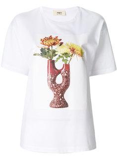 футболка с принтом цветов в вазе  Ports 1961