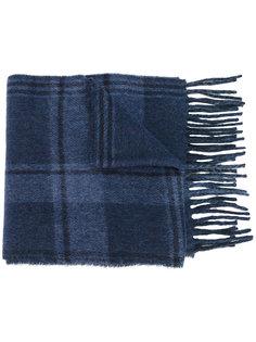 клетчатый шарф с бахромой Polo Ralph Lauren