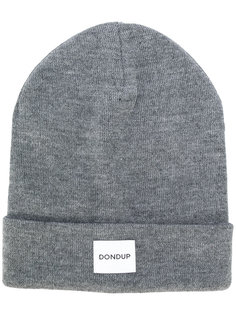 трикотажная шапка с заплаткой с логотипом Dondup