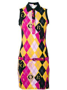 платье-поло в ромбик Christian Dior Vintage