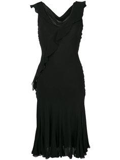 платье с оборками Christian Dior Vintage