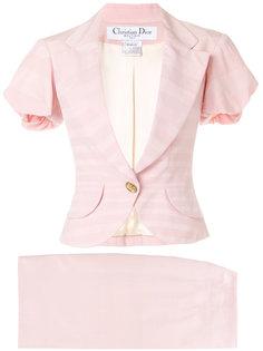 костюм в полоску Christian Dior Vintage