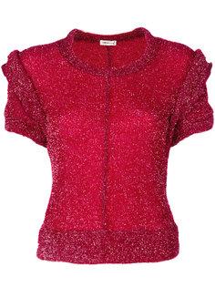 свитер с короткими рукавами и люрексом Comme Des Garçons Vintage