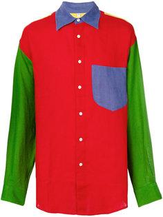 рубашка дизайна колор-блок Jc De Castelbajac Vintage