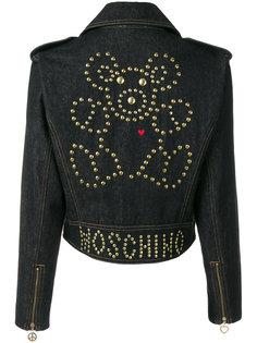 джинсовая куртка с заклепками Moschino Vintage