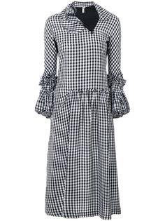 платье в клетку с оборками Comme Des Garçons Vintage