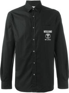 рубашка с принтом-логотипом Moschino