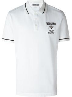 футболка-поло с логотипом Moschino