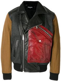 куртка-бомбер с панельным дизайном Dsquared2