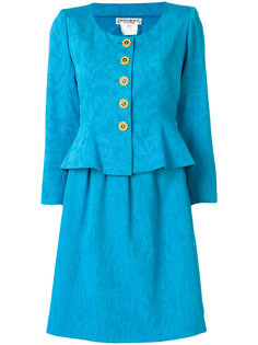 жаккардовый костюм с юбкой Yves Saint Laurent Vintage