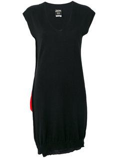 трикотажное платье с контрастной панелью Jean Paul Gaultier Vintage