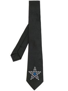 галстук с вышитой звездой Givenchy