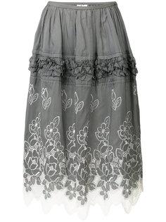 юбка с цветочной вышивкой Comme Des Garçons Vintage