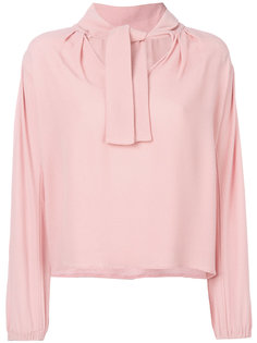 блузка с бантом Yves Saint Laurent Vintage