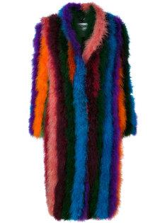 пальто с перьями  Moschino