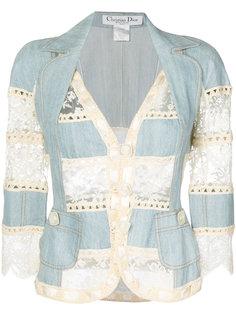 жакет с кружевными вставками Christian Dior Vintage