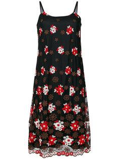 прозрачное платье-комбинация с вышивкой Comme Des Garçons Vintage