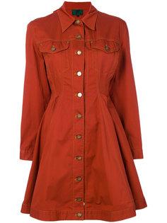 джинсовое расклешенное платье-рубашка  Jean Paul Gaultier Vintage