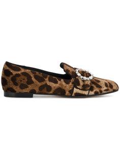 лоферы с леопардовым принтом Dolce & Gabbana