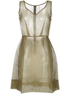 прозрачное плиссированное платье Comme Des Garçons Vintage