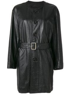 пальто с поясом без воротника Comme Des Garçons Vintage