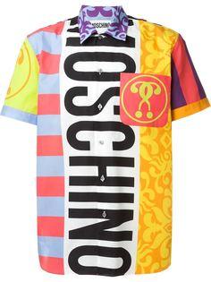 рубашка с ярким принтом Moschino