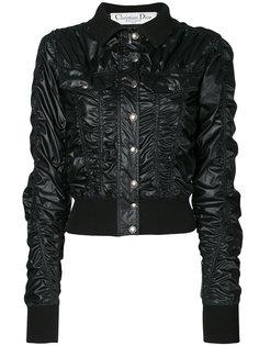 куртка бомбер со сборками Christian Dior Vintage