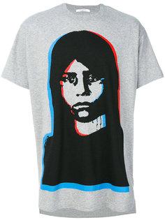 футболка с принтом лица Givenchy