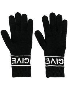 перчатки с логотипом Givenchy