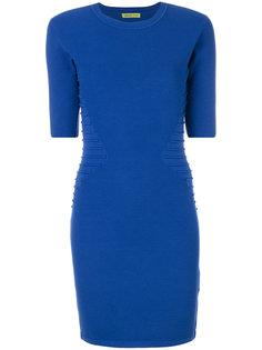 платье миди с отделкой в рубчик  Versace Jeans
