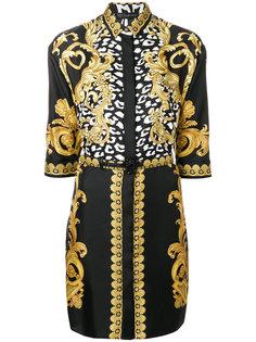 платье-рубашка с принтом  Versace