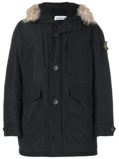 стеганое пальто с капюшоном Stone Island