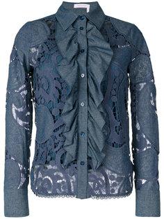 кружевная рубашка с оборками See By Chloé