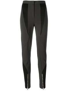 эластичные брюки со вставками  Versace