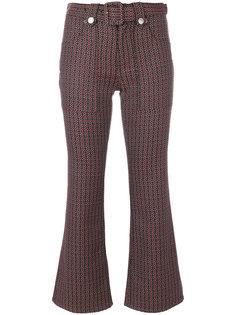 укороченные жаккардовые брюки в стиле 70-х Morrison Mm6 Maison Margiela